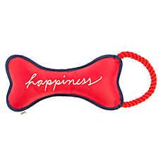 ED Ellen DeGeneres Happiness Bone Tug Dog Toy - Squeaker, Rope