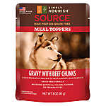 Simply Nourish™ Source Dog Food Meal Topper - Natural, Grain Free, Gravy with Beef