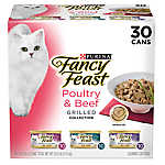 Fancy Feast® Grilled Collection Cat Food - Poultry & Beef, Variety Pack, 30ct