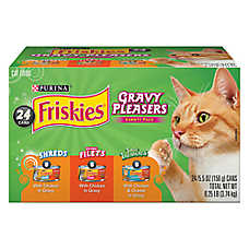 Purina® Friskies® Cat Food - Gravy Pleasers, Variety Pack, 24ct