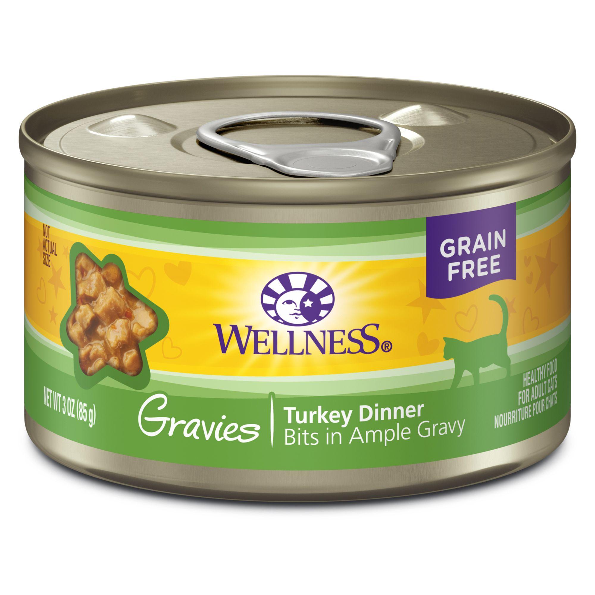 Wellness 3Oz Gravies Adult Cat Food - Grain Free, Turkey Entree