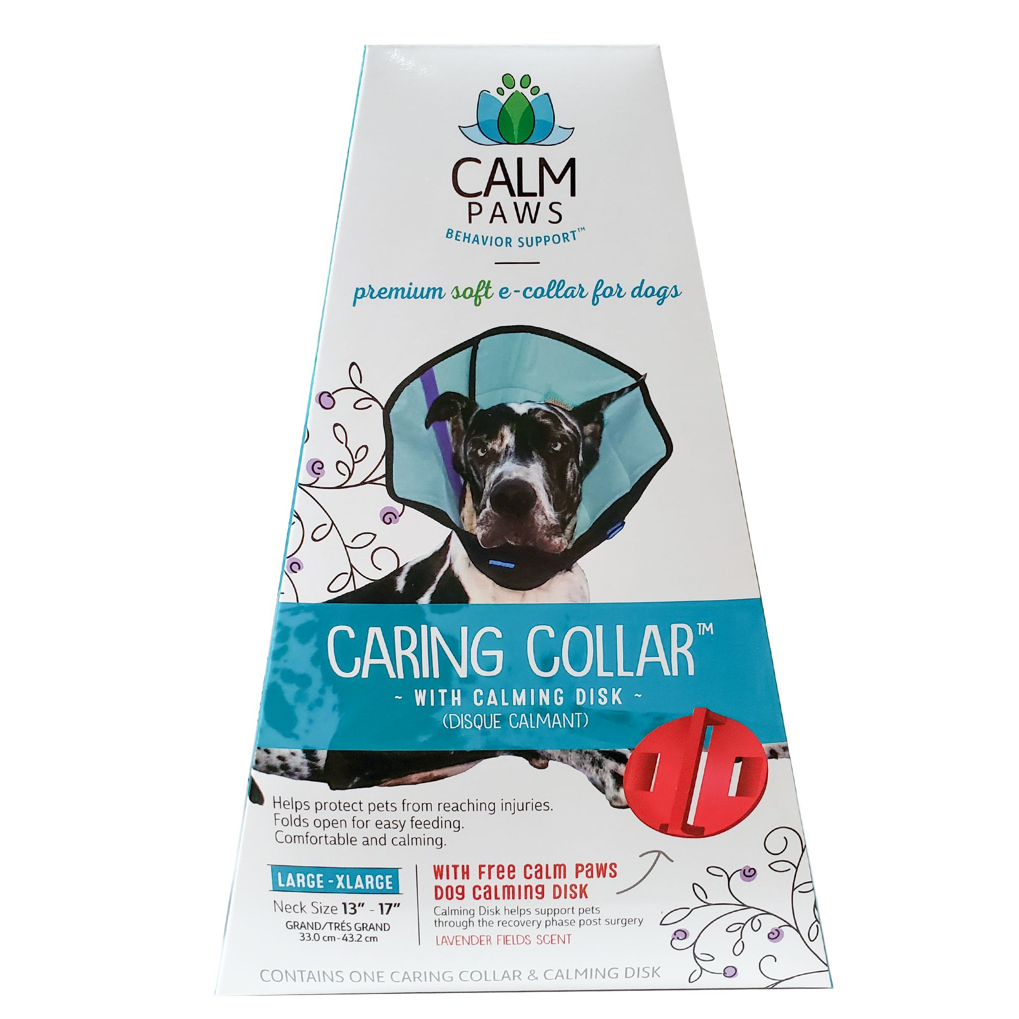 Calm Paws Behavior Support Trade Caring Dog Collar With Calming Gel Patch Dog Collars Petsmart