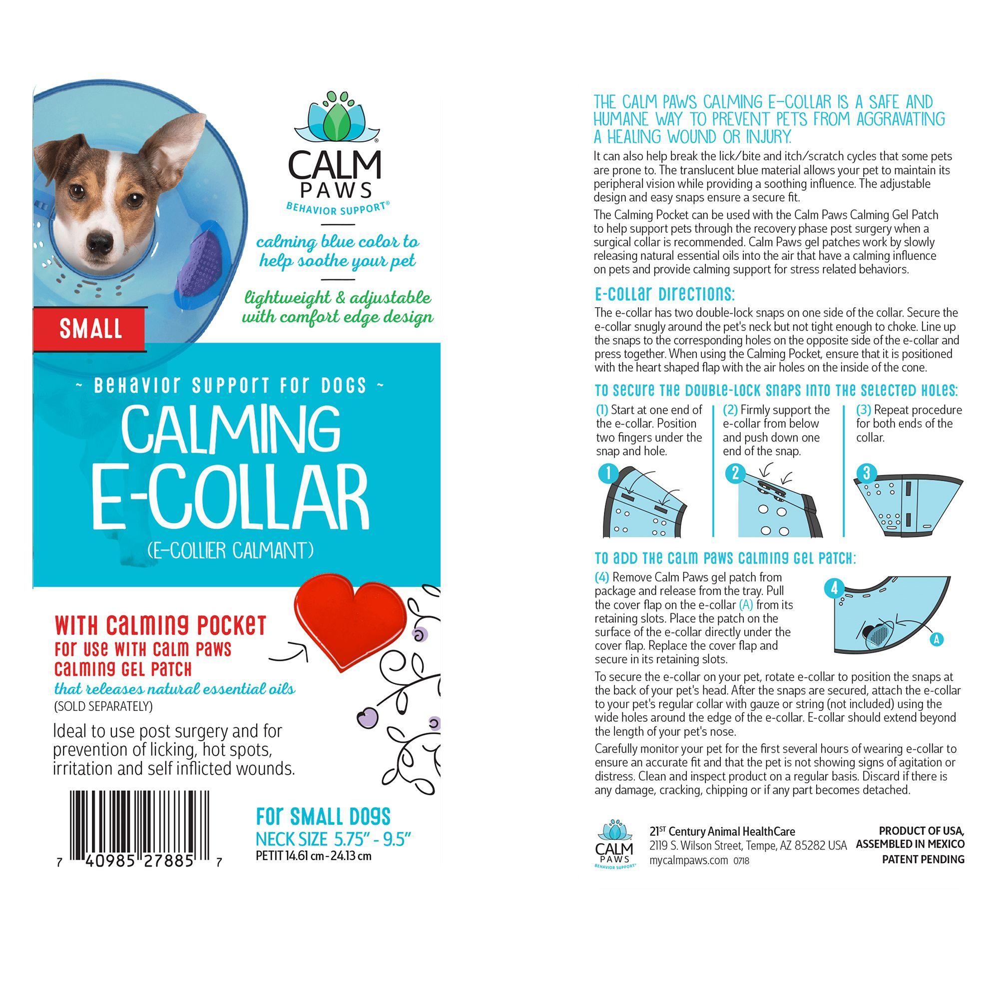 Calm Paws Behavior Support Trade Calming E Collar Dog Collars