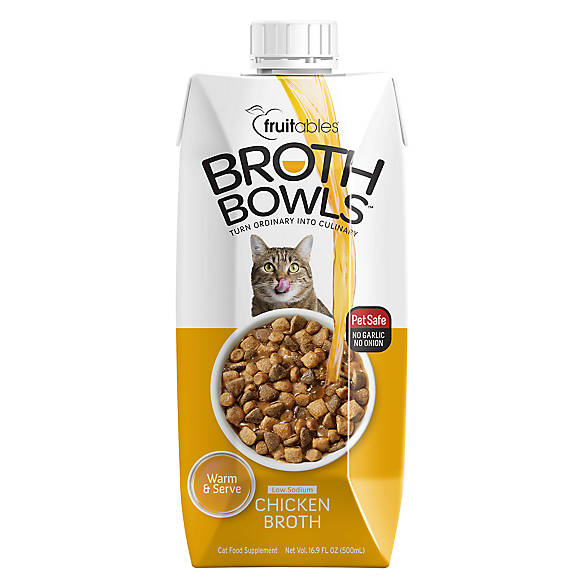 Fruitables Broth Bowls Cat Food Topper Chicken Cat Food Toppers