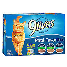 9Lives Adult Cat Food - Variety Pack, 12ct