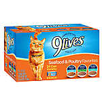 9Lives Adult Cat Food - Variety Pack, 24ct, Seafood & Poultry