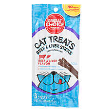 Grreat Choice® Meaty Sticks Cat Treat - Beef & Liver