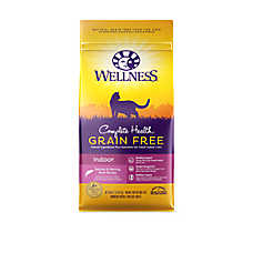 Wellness® Complete Health Indoor Cat Food - Natural, Grain Free, Salmon & Herring Meal