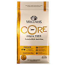 Wellness® CORE® Indoor Adult Cat Food - Natural, Grain Free, Chicken, Turkey & Chicken Meal