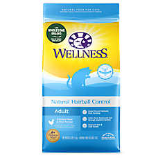 Wellness® Natural Hairball Control Adult Cat Food - Natural, Chicken Meal & Rice