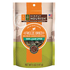 Simply Nourish™ Freeze Dried Dog Treat - Natural, Lamb Liver
