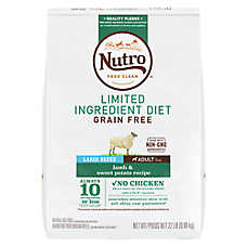 NUTRO™ Limited Ingredient Diet Large Breed Dog Food - Natural, Grain Free, Lamb & Sweet Potato