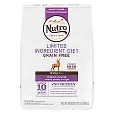 NUTRO™ Limited Ingredient Diet Dog Food - Natural, Grain Free, Venison Meal & Sweet Potato