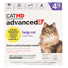 Cat MD Maximum Defense™ Advanced 2 Over 9 lbs Flea Treatment