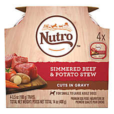 NUTRO™ Petite Eats Small Breed Adult Dog Food - Natural, Beef & Potato, Multipack, 4ct