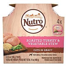 NUTRO™ Petite Eats Small Breed Adult Dog Food - Natural, Turkey & Vegetable, Multipack, 4ct