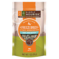 Simply Nourish™ Freeze Dried Cat Treat - Natural, Grain & Gluten Free, Whitefish