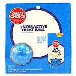 Grreat Choice® Interactive Treat Ball & Cat Treat