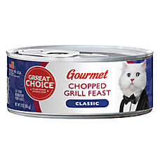 Grreat Choice® Gourmet Cat Food - Chopped Grill Feast