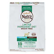NUTRO™ Limited Ingredient Diet Large Breed Dog Food - Natural, Grain Free, Lamb & Sweet Potato