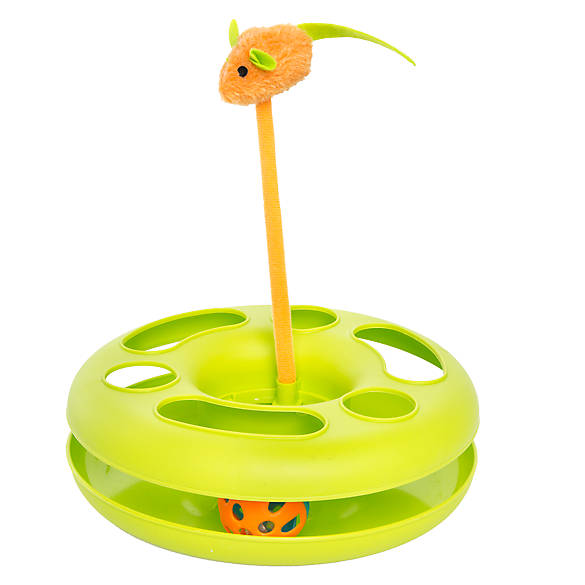 Whisker City 174 Ball Track Amp Mouse Swatter Cat Toy Color