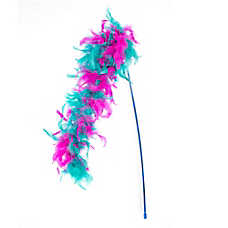 Whisker City® Feather Boa Teaser Cat Toy