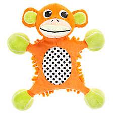 "Puppies""R""Us™ Monkey Body Mat Flattie Dog Toy - Crinkle, Plush, Squeaker"