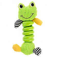 """Puppies""""R""""Us™ Frog Spiral Body Dog Toy"""