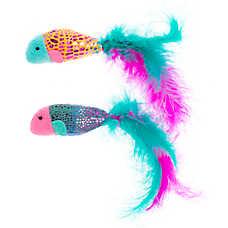 Grreat Choice® Metallic Fish 2-Pack Cat Toy