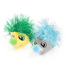 Grreat Choice® Long Hair Hedgehog 2-Pack Cat Toy