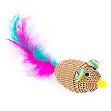 Grreat Choice® Cardboard Feather Mouse Cat Toy