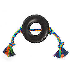 Top Paw® Knotted Rope with Rubber Tire Dog Toy