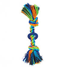 Top Paw® 2 Knot Rope with Ring Dog Toy
