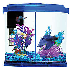 Top Fin® 1 Gallon Liquidy Split Aquarium