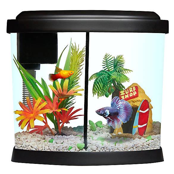 top fin 1 gallon liquidy split aquarium fish starter kits petsmart