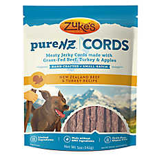 Zuke's® Pure NZ Cords Dog Treat - Grain Free, Limited Ingredient, Beef & Turkey