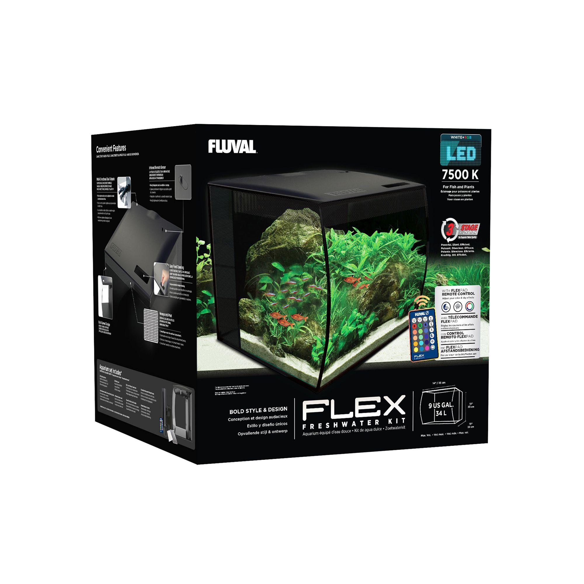Fluval Flex 9 Gallon Aquarium Kit