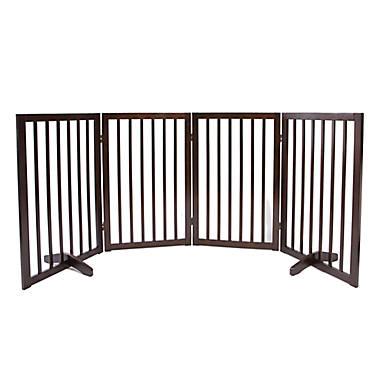 Top Paw® 4-Panel Freestanding Wood Pet Gate   dog Dog ...