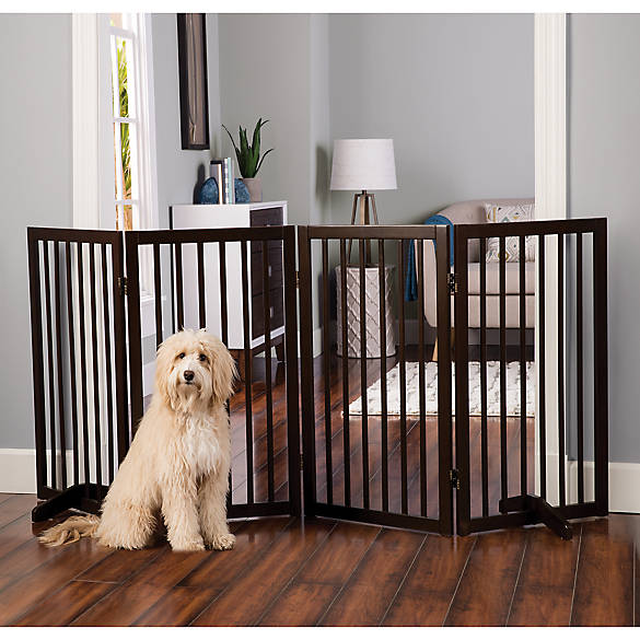 Gate on 4/' side 2/'x4/' Solid RED OAK Dog Crate Snap-on Floor Mat included