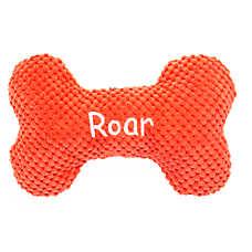 "Top Paw® Dino ""Roar"" Bone Dog Toy - Plush, Squeaker"