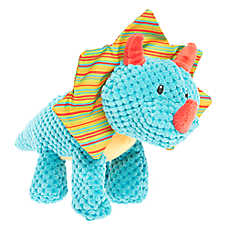 Top Paw® Dino Triceratops Dog Toy - Plush, Squeaker