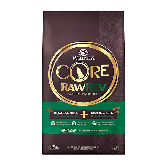 Wellness 174 Core 174 Rawrev Adult Dog Food Natural Grain