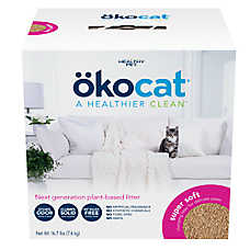 Okocat Super Soft Clumping Wood Cat Litter - Natural