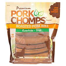 Pork Chomps Roasted Pork Ribz Rawhide Free Dog Treat