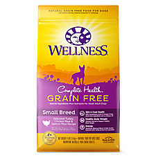 Wellness® Complete Health Small Breed Adult Dog Food - Natural, Grain Free, Turkey, Chicken & Salmon