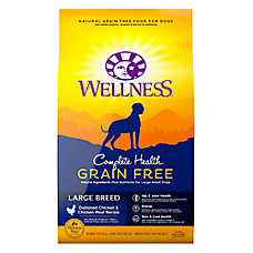 Wellness® Complete Health Large Breed Adult Dog Food - Natural, Grain Free, Chicken & Chicken Meal
