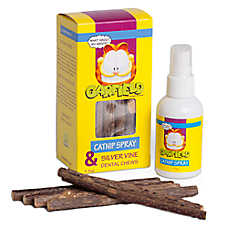 Garfield Catnip Spray & Silver Vine Dental Cat Chews