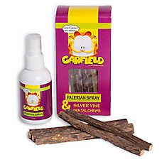 Garfield Valerian Spray & Silver Vine Dental Cat Chews