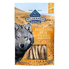 BLUE Wilderness® Flatland Stix Dog Treat - Natural, Grain Free, Turkey, Quail & Duck