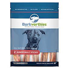 "Barkworthies 6"" Junior Bully Sticks Dog Chew - Natural"